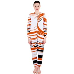 Hole Black Orange Arrow Onepiece Jumpsuit (ladies)  by Mariart
