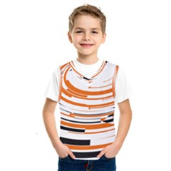 Hole Black Orange Arrow Kids  Sportswear by Mariart