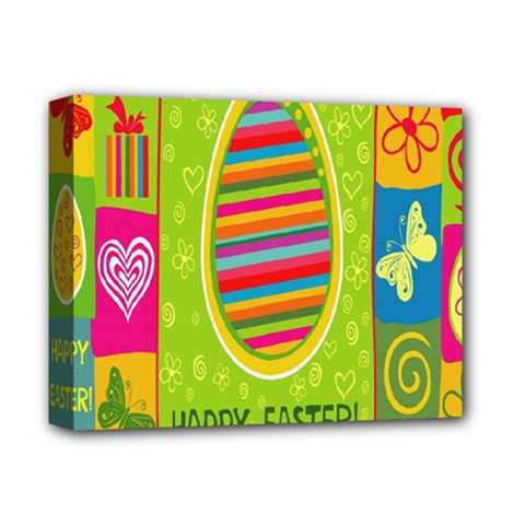 Happy Easter Butterfly Love Flower Floral Color Rainbow Deluxe Canvas 14  X 11  by Mariart