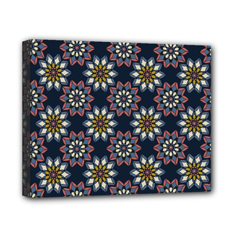 Floral Flower Star Blue Canvas 10  X 8