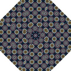 Floral Flower Star Blue Straight Umbrellas by Mariart