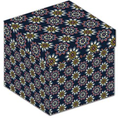 Floral Flower Star Blue Storage Stool 12   by Mariart