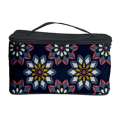 Floral Flower Star Blue Cosmetic Storage Case