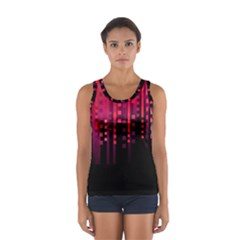 Line Vertical Plaid Light Black Red Purple Pink Sexy Women s Sport Tank Top  by Mariart