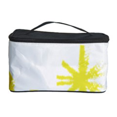 Line Painting Yellow Star Cosmetic Storage Case by Mariart