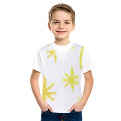 Line Painting Yellow Star Kids  Sportswear by Mariart