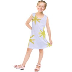 Line Painting Yellow Star Kids  Tunic Dress by Mariart