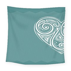 Line Wave Chevron Star Blue Love Heart Sea Beach Square Tapestry (large) by Mariart
