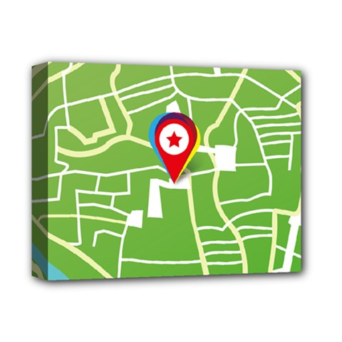 Map Street Star Location Deluxe Canvas 14  X 11  by Mariart