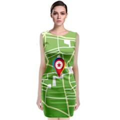 Map Street Star Location Classic Sleeveless Midi Dress by Mariart