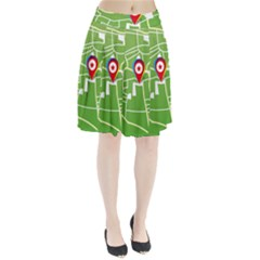 Map Street Star Location Pleated Skirt by Mariart