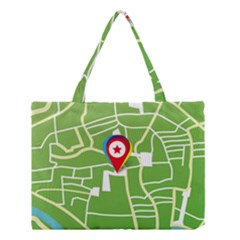 Map Street Star Location Medium Tote Bag by Mariart