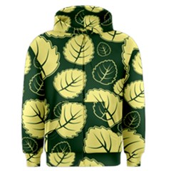 Leaf Green Yellow Men s Zipper Hoodie