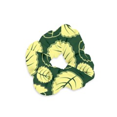 Leaf Green Yellow Velvet Scrunchie by Mariart