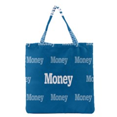Money White Blue Color Grocery Tote Bag by Mariart