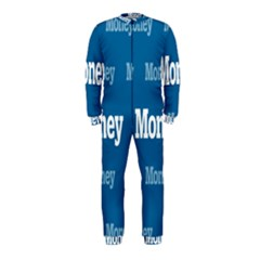 Money White Blue Color Onepiece Jumpsuit (kids) by Mariart