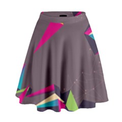 Origami Bird Japans Papper High Waist Skirt by Mariart