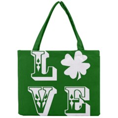 Parks And Tally Love Printable Green Mini Tote Bag by Mariart