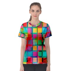 Plaid Line Color Rainbow Red Orange Blue Chevron Women s Sport Mesh Tee by Mariart