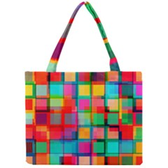 Plaid Line Color Rainbow Red Orange Blue Chevron Mini Tote Bag by Mariart