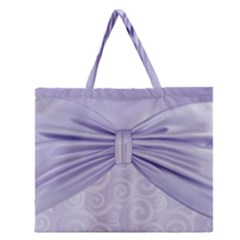 Ribbon Purple Sexy Zipper Large Tote Bag by Mariart
