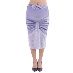 Ribbon Purple Sexy Midi Pencil Skirt by Mariart