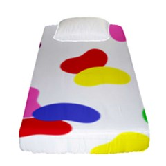 Seed Beans Color Rainbow Fitted Sheet (single Size) by Mariart