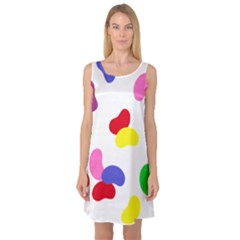 Seed Beans Color Rainbow Sleeveless Satin Nightdress by Mariart