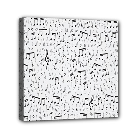 Musical Notes Song Mini Canvas 6  X 6  by Mariart