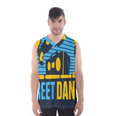 Street Dance R&b Music Men s Basketball Tank Top by Mariart