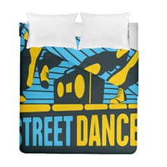 Street Dance R&b Music Duvet Cover Double Side (full/ Double Size) by Mariart