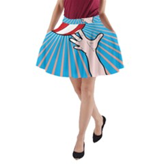 Volly Ball Sport Game Player A Line Pocket Skirt by Mariart