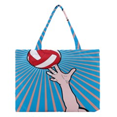 Volly Ball Sport Game Player Medium Tote Bag by Mariart