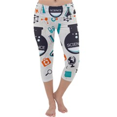Science Chemistry Physics Capri Yoga Leggings by Mariart