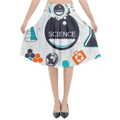 Science Chemistry Physics Flared Midi Skirt