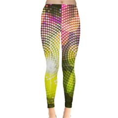 Plaid Star Light Color Rainbow Yellow Purple Pink Gold Blue Leggings  by Mariart