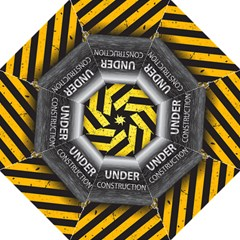 Under Construction Sign Iron Line Black Yellow Cross Straight Umbrellas by Mariart