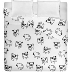 Pug Dog Pattern Duvet Cover Double Side (king Size)