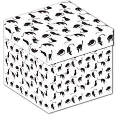 Black Cats Pattern Storage Stool 12   by Valentinaart
