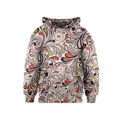 Colorful Abstract Floral Background Kids  Pullover Hoodie by TastefulDesigns