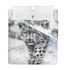 Snow Leopard  Duvet Cover Double Side (full/ Double Size) by kostart