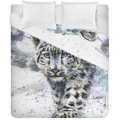 Snow Leopard  Duvet Cover Double Side (california King Size) by kostart