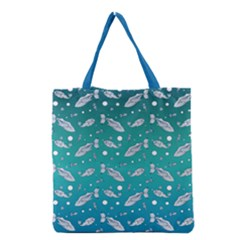 Under The Sea Paisley Grocery Tote Bag by emilyzragz