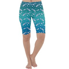 Under The Sea Paisley Cropped Leggings