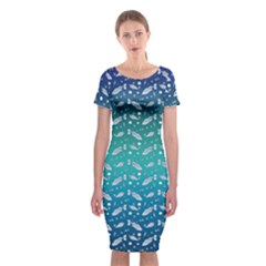 Under The Sea Paisley Classic Short Sleeve Midi Dress