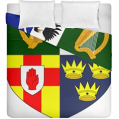 Arms Of Four Provinces Of Ireland  Duvet Cover Double Side (king Size) by abbeyz71