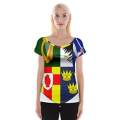 Arms Of Four Provinces Of Ireland  Women s Cap Sleeve Top