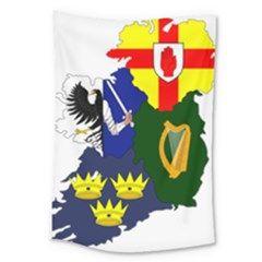 Flag Map Of Provinces Of Ireland Large Tapestry by abbeyz71