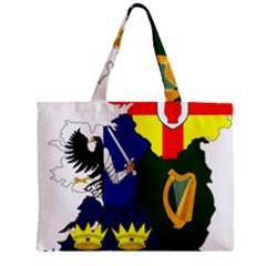 Flag Map Of Provinces Of Ireland  Zipper Mini Tote Bag by abbeyz71