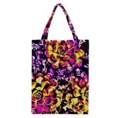 Purple Yellow Flower Plant Classic Tote Bag by Costasonlineshop
